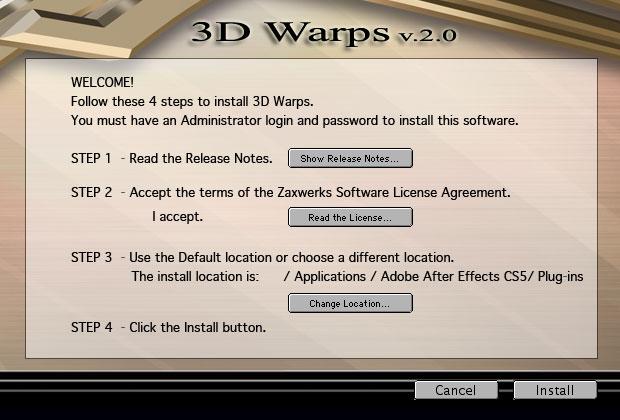 3D Warps Documentation